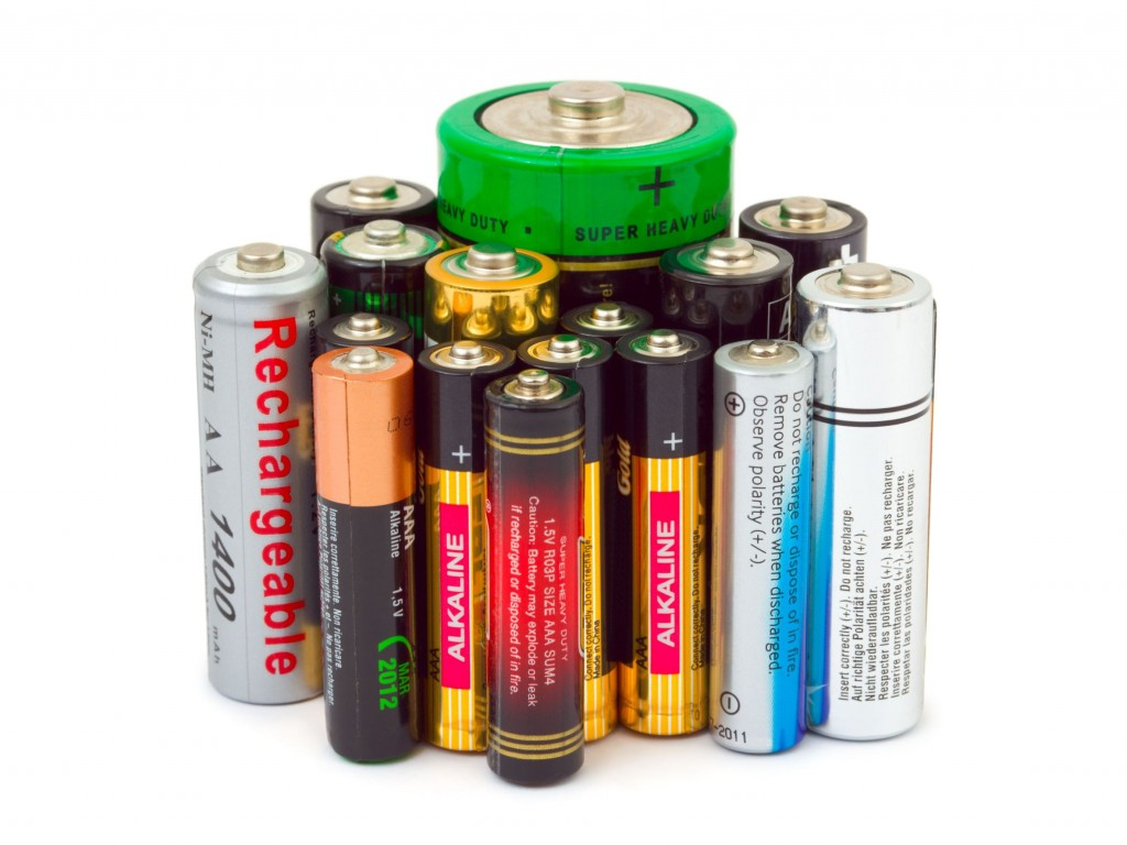 3891400 - group of batteries isolated on white background