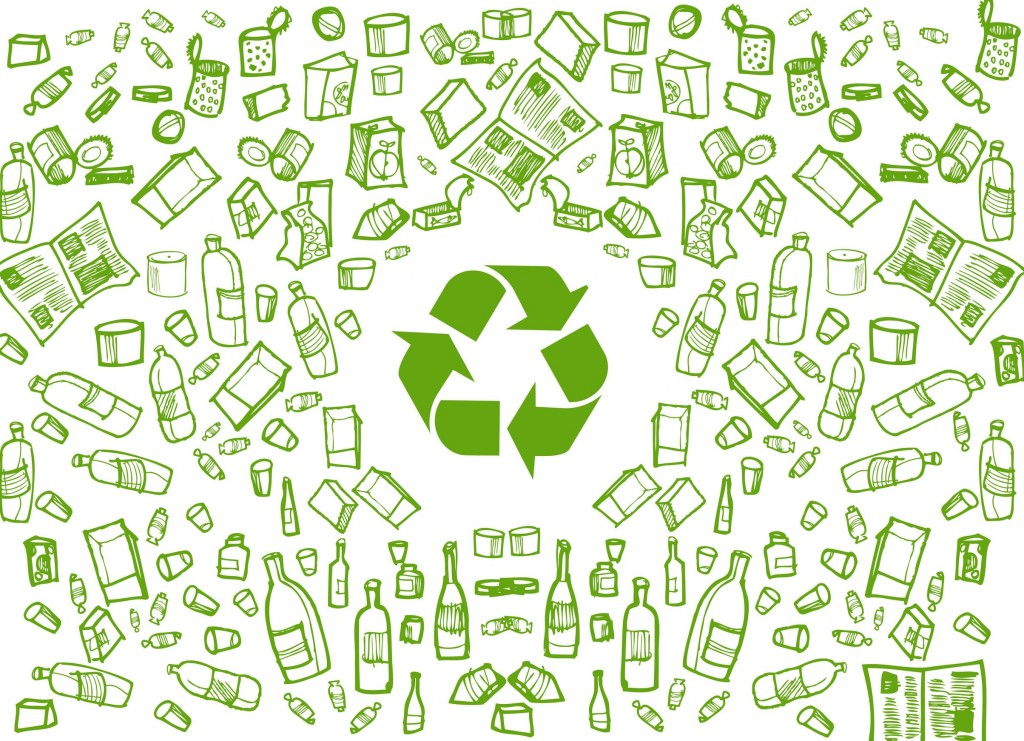 10330757 - green recycling round background