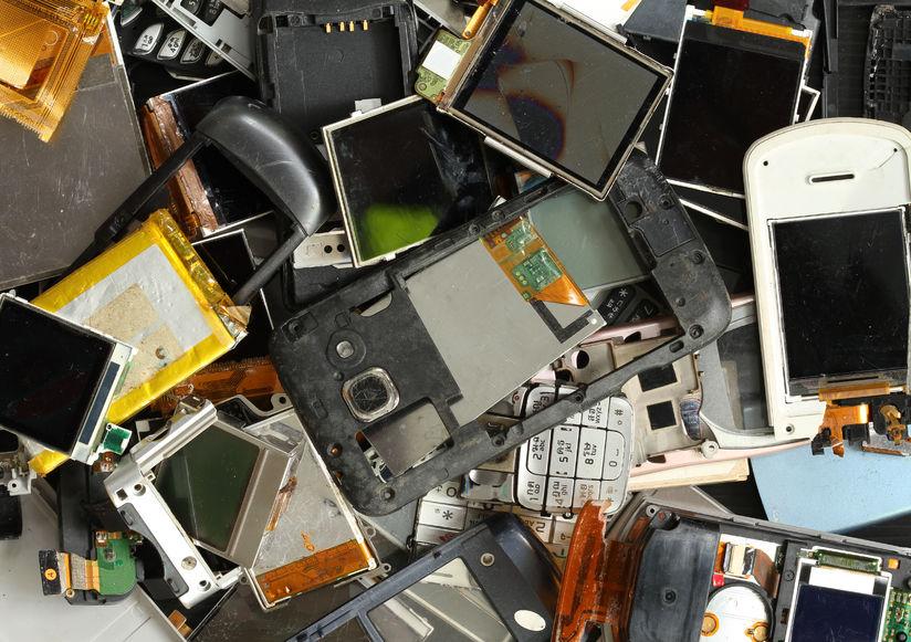 33150449 - pile of mobile phone scrap