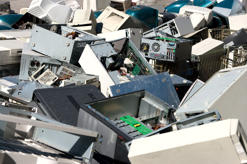 24960231 - a pile of dismantled computer parts for electronic recycling