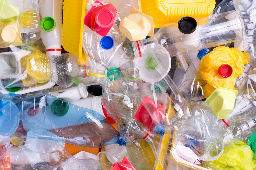 29948001 - plastic bottles and containers prepared for recycling