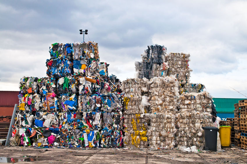 25474077 - piles of colorful plastic waste on a recycling site