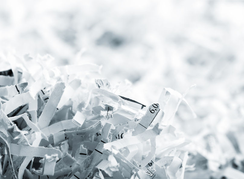 32264934 - closeup picture of big heap of white shredded papers