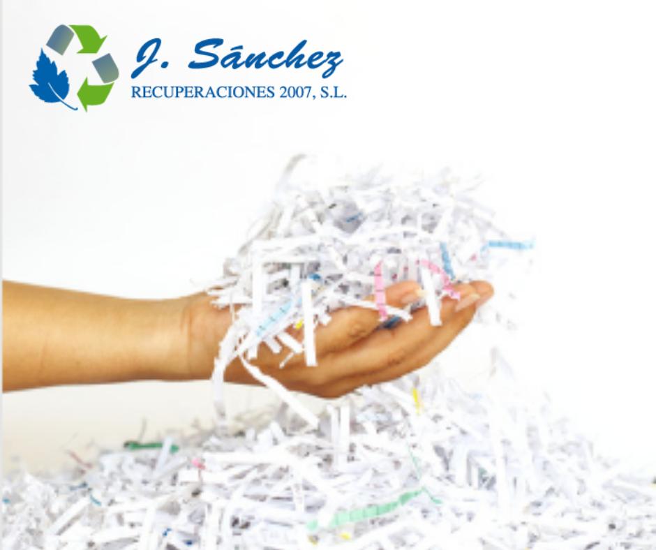 Proceso de destrucción de papeles