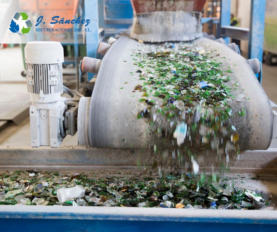 cadena de reciclaje del vidrio