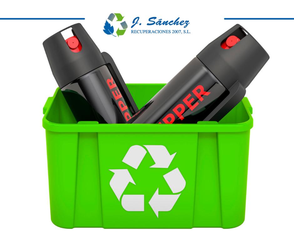 Cómo reciclar sprays o aerosoles
